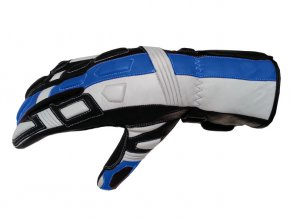 Kožené moto rukavice Spark Tampa modré
