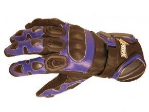 Kožené moto rukavice Spark Street, modré - XS