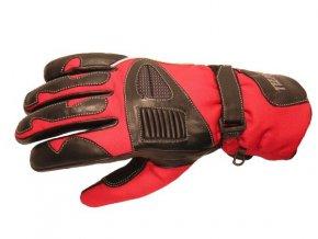 Textilní moto rukavice Spark Cordmaster, červené