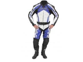 Pánské kožené moto kalhoty Spark GP modré