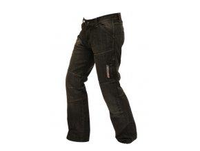 Pánské textilní moto kevlar jeansy Spark Track, černé