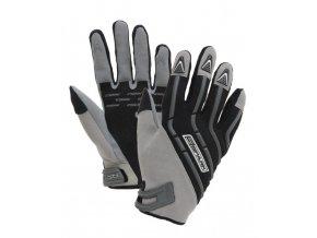 Textilní moto rukavice Spark Cross, šedé