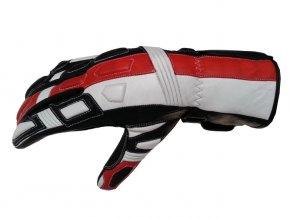 Kožené moto rukavice Spark Tampa červené