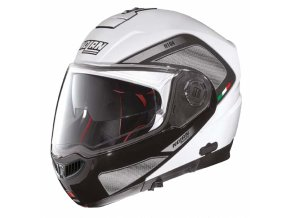 Moto helma Nolan N104 Absolute Tech N-Com Metal White 28