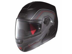Moto helma Nolan N91 Evo Ammersee N-Com Flat Black 38 - L