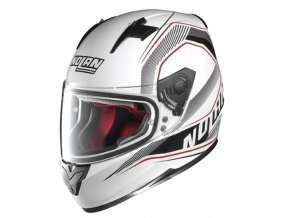 Moto helma Nolan N64 Swerve Metal White 81