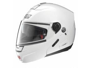 Moto helma Nolan N91 Evo Classic N-Com Metal White 5