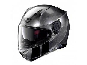 Moto helma Nolan N87 Martz N-Com Scratched Chrome 28
