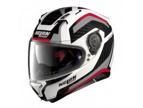 Moto helma Nolan N87 Arkad N-Com Metal White 43