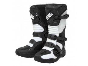 Dětské moto boty MX Black/White