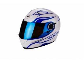 Moto přilba SCORPION EXO-490 LUZ pearl bílo/modrá