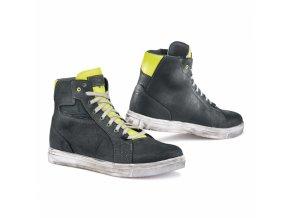 Moto boty TCX STREET ACE světle černo/žluté fluo