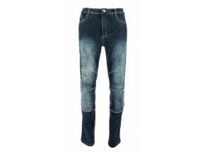 Moto kalhoty Throne jeans modré