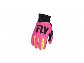 rukavice PRO LITE 2018, FLY RACING - USA dětské (růžová/hi-vis)