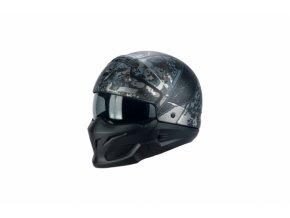 Moto přilba SCORPION EXO-COMBAT OPEX matná černo/stříbrná