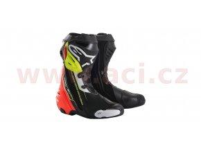 boty SUPERTECH R, ALPINESTARS (červené/žluté fluo/černé)