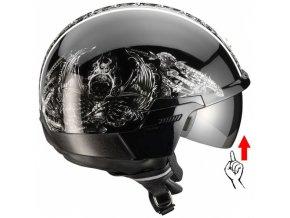 Moto přilba SCORPION EXO-100 černá