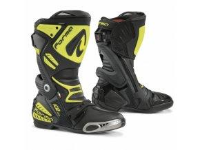 Moto boty FORMA ICE PRO černo/žluté fluo