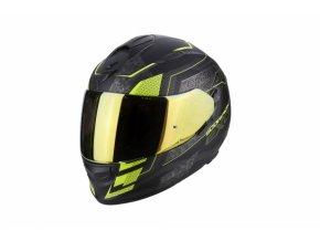 Moto přilba SCORPION EXO-510 AIR GALVA matná černá/neonově žlutá
