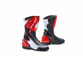 Moto boty FORMA FRECCIA černo/bílo/červené