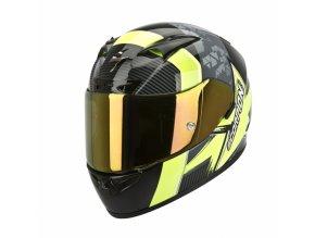 Moto přilba SCORPION EXO-710 AIR CRYSTAL černo/neonově žlutá