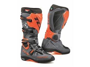 Moto boty TCX COMP EVO MICHELIN® tmavě šedá/oranžová fluo