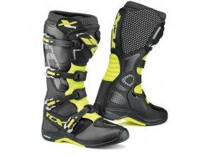 Moto boty TCX X-HELIUM MICHELIN® černo/žluté fluo