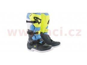 boty TECH 3, ALPINESTARS (žlutá fluo/bílá/modrá)