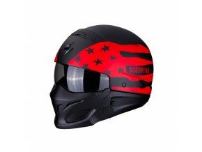 Moto přilba SCORPION EXO-COMBAT ROOKIE matná černo/červená