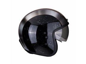 Moto přilba SCORPION BELFAST BYWAY černo/stříbrná