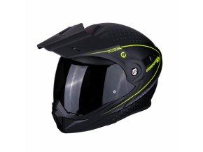 Moto přilba SCORPION ADX-1 HORIZON matná černo/žlutá