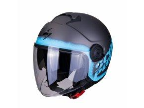 Moto přilba SCORPION EXO-CITY BLURR matná stříbrno/modrá