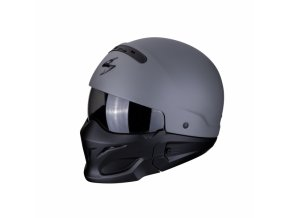 Moto přilba SCORPION EXO-COMBAT CEMENT matná šedá