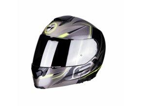 Moto přilba SCORPION EXO-3000 AIR CREED titanovo/černo/žlutá neon