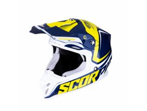 Moto přilba SCORPION EXO VX-16 AIR ERNEE modro/žluto/bílá