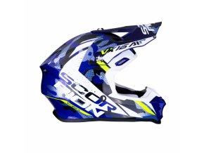 Moto přilba SCORPION EXO VX-16 AIR WAKA černo/bílo/modrá