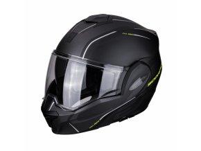 Moto přilba SCORPION EXO-TECH TIME-OFF matná černo/žlutá neon