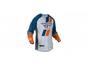 dres EVO 2019, FLY RACING - USA (modrá/šedá/oranžová)