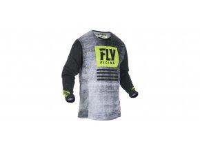 dres Kinetic NOIZ 2019, FLY RACING - USA (černá/žlutá fluo)