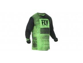 dres Kinetic NOIZ 2019, FLY RACING - USA (neonová zelená/černá)