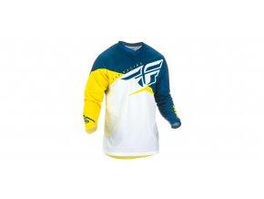 dres F-16 2019, FLY RACING - USA (žlutá/bílá/modrá)