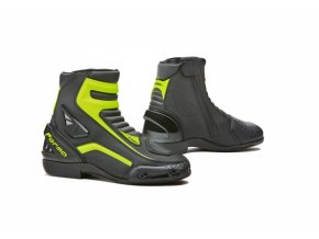 Moto boty FORMA AXEL černo/žluté fluo