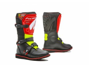 Dětské moto boty FORMA ROCK černo/červeno/žluté fluo