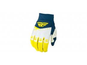 rukavice F-16 2019, FLY RACING - USA (žlutá/bílá/modrá)