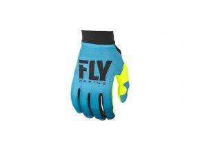 rukavice PRO LITE 2019, FLY RACING - USA dámské (modrá/žlutá fluo)