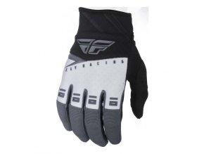 rukavice F-16 2019, FLY RACING - USA dětské (černá/bílá/šedá)