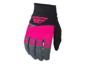 rukavice F-16 2019, FLY RACING - USA dětské (růžová/černá/šedá)