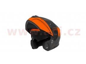 přilba N965 EKO, NOX (černá matná/oranžová fluo)