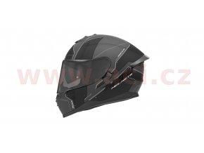 přilba N302S VECTOR, NOX (šedá matná/černá/bílá, s aerodynamickým spoilerem)