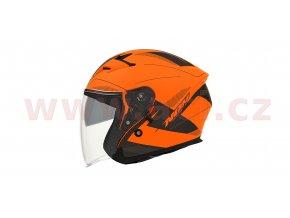 přilba N127 FUSION, NOX (oranžová fluo matná/černá/šedá)